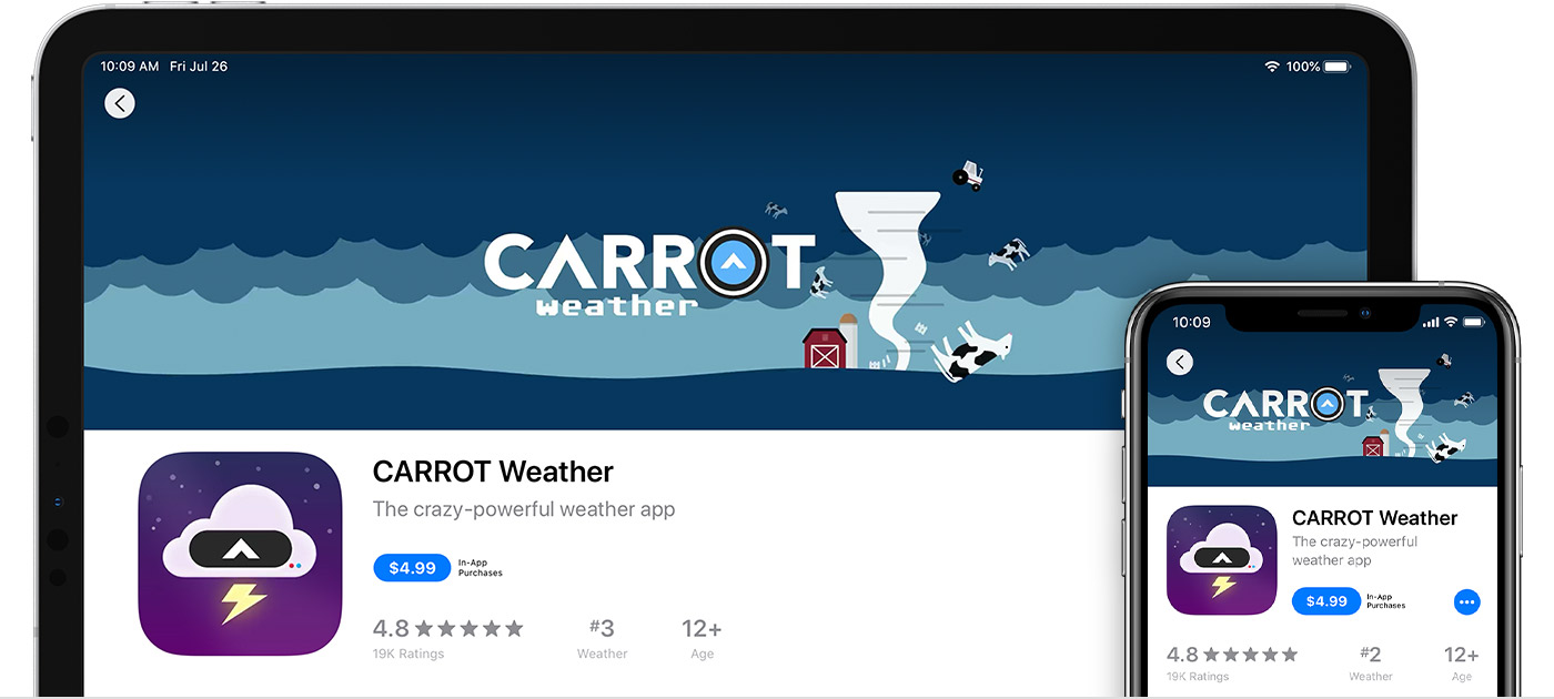 Carrot Weather app for mac
