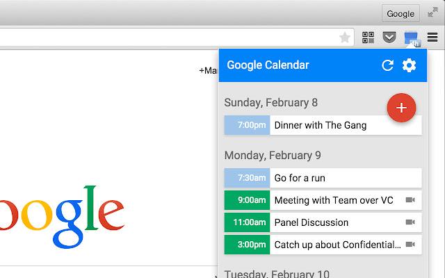 Chrome Extension Google Calendar