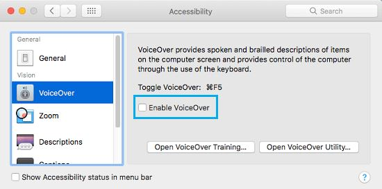 Enable Voice over