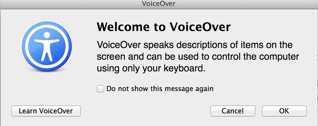turn off mac's voice over