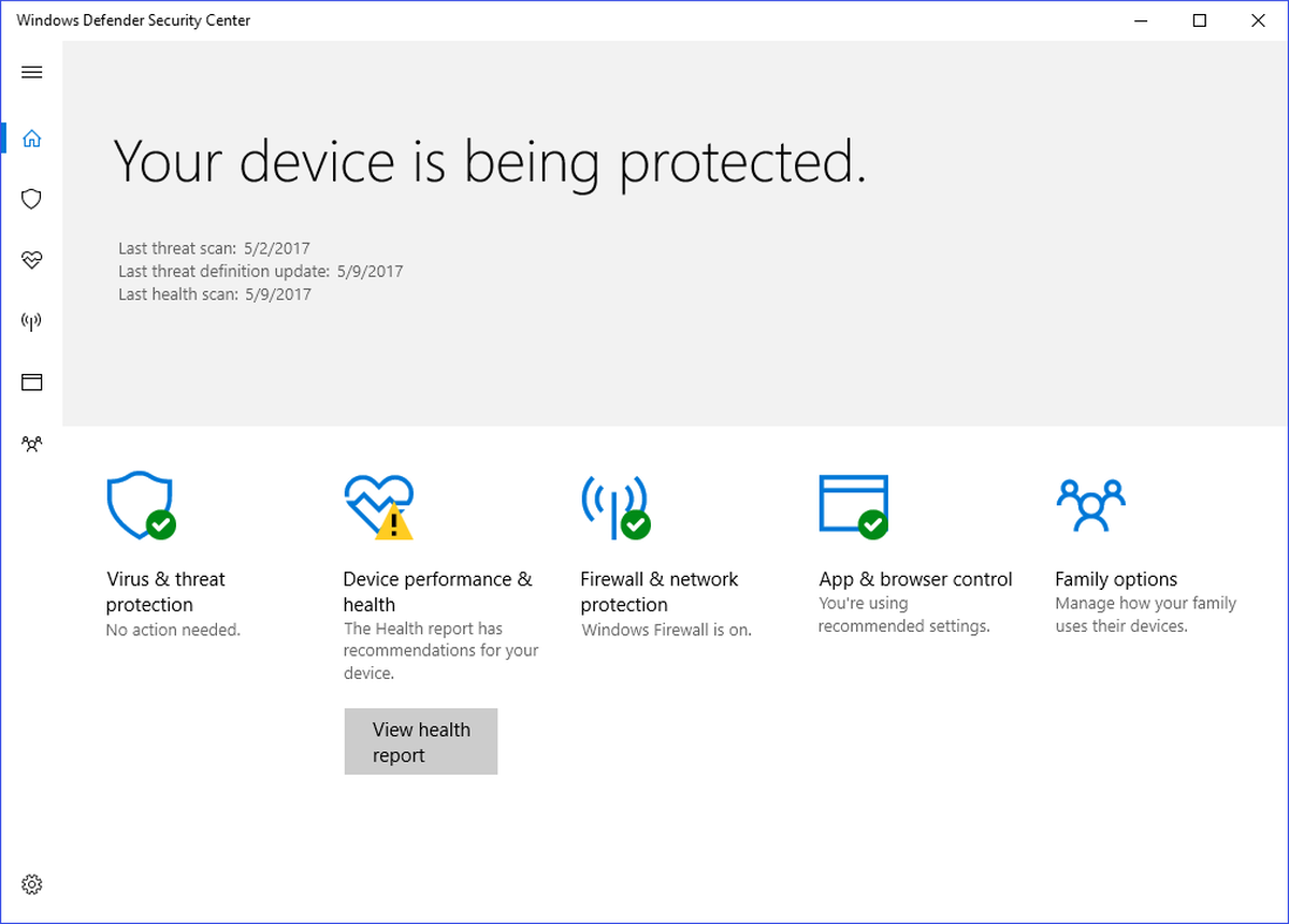 Your Device Is Being Protected