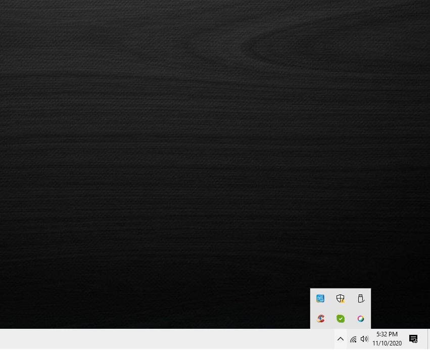 Windows Defender Security Center's Main Dashboard