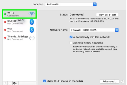 to Change IP Address on Mac click network