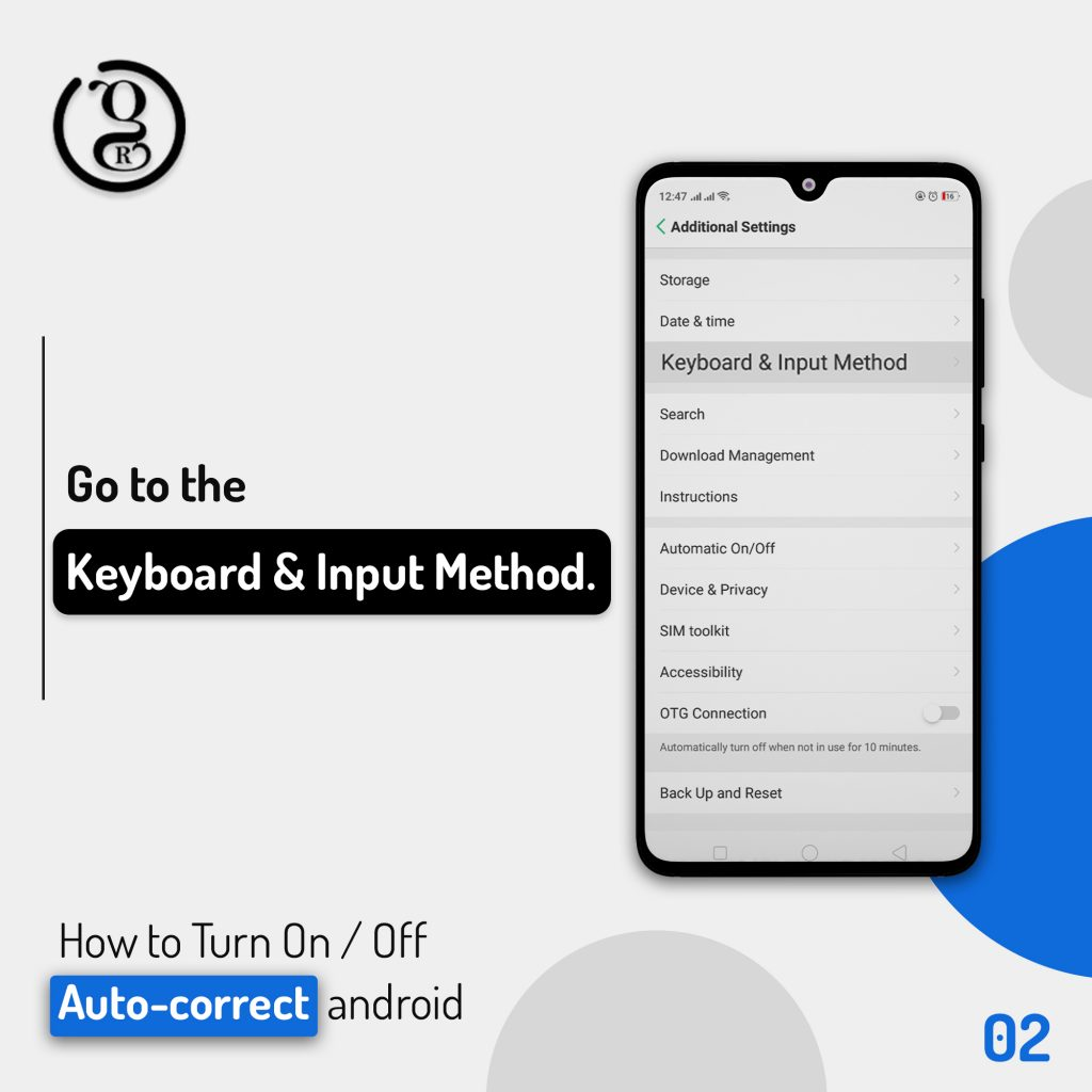 Keyboard & input method on android Phone