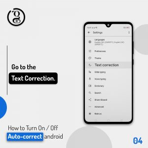 Text Correction on android Phone