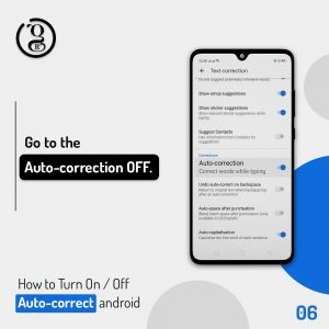 Auto correction off on android Phone