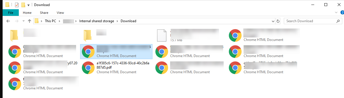 Transfer Android Files to windows